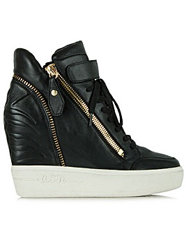 Ash Leather Wedge High Top Trainer