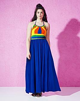 Crochet-Top Maxi Dress