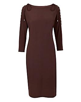 Lace Up Shoulder Dress