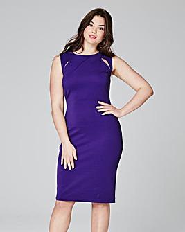 Sleeveless Cut out Detail Bodycon Dress
