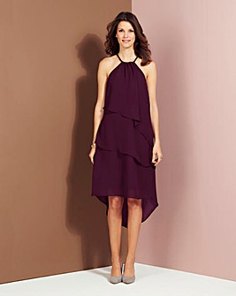 Halter Neck Ruffle Dress