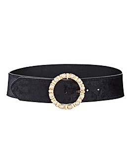 Wait Belt With Pearl Buckle