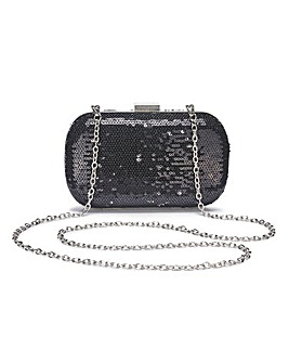 Alice Black Sequin Clutch Bag