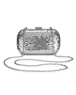 Alice Silver Sequin Clutch Bag