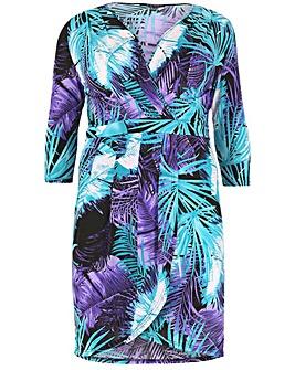 Samya Patterned Wrap Dress