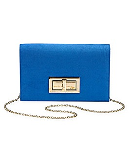 Large Lock Clutch Bag