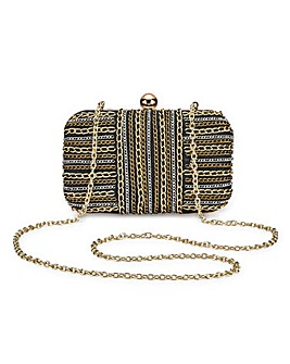 Chain Box Clutch Bag