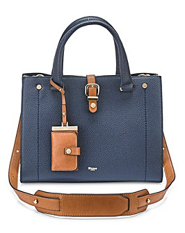 Dune Navy Daphney Tote Bag