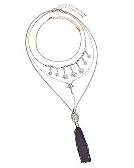 Star Multi Row Necklace