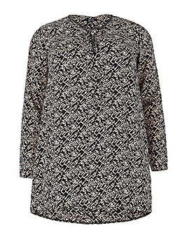 Samya 3/4 Sleeve Printed Dress