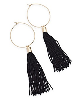 Tassel Bar Hoop Earrings