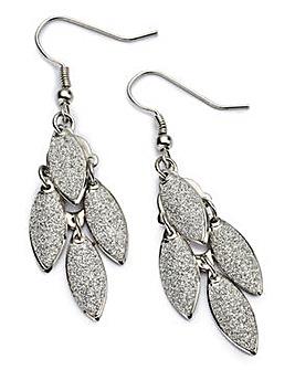 Glitter Leaf Drop Earring