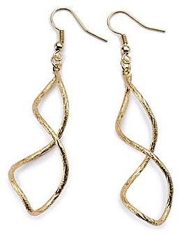 Twisted Gold Drop Earrings