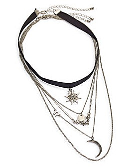 Pendant Star Choker Multirow