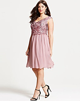 Little Mistress Dusty Pink Prom Dress
