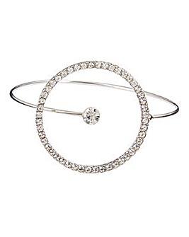 Pave Circle Open Bracelet