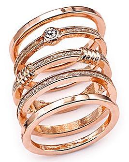 Glitter Ring Stack