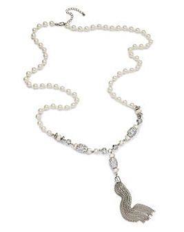 Mixed Bead Rope Necklace