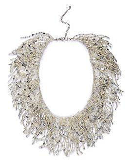 Statement Frazzle Necklace
