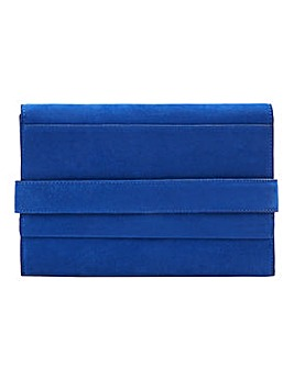 Violeta By Mango Suede Clutch Bag