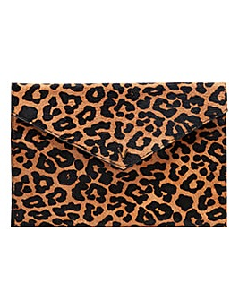 Violeta By Mango Leopard Clutch Bag