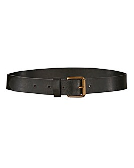 Khaki Leather Jeans Belt