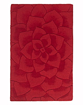 Rose Carved Rose Large Wool Rug