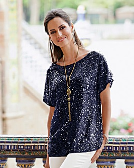 Together Sequin Embellished Top