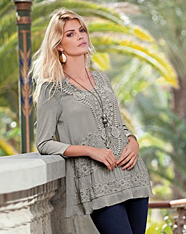 Together Lace Trim Jersey Tunic