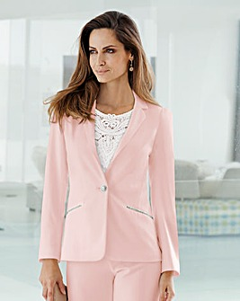 Together Diamante Trim Tailored Jacket