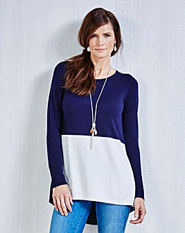 JOANNA HOPE Contrast Jumper