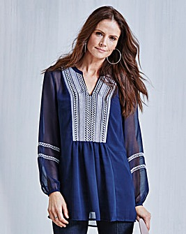 JOANNA HOPE Embroidered Tunic