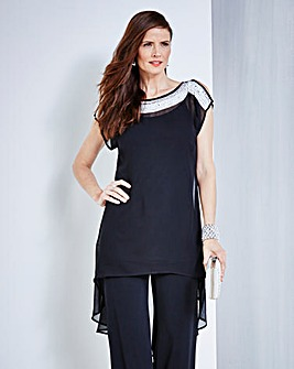 JOANNA HOPE Bead Detail Longline Tunic