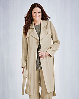 JOANNA HOPE Tencel Longline Jacket