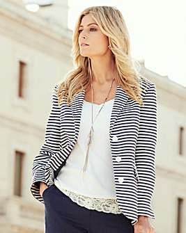 Joanna Hope Stripe Blazer