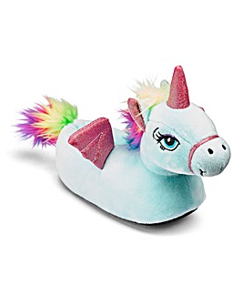 KD Girls Winged Unicorn Slippers