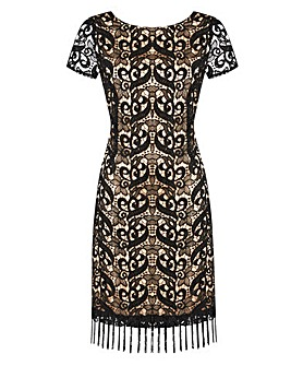 JOANNA HOPE Lace Tassel Dress