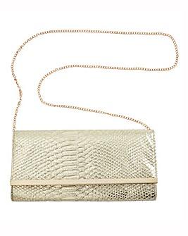 Together Silver Snake Clutch Bag