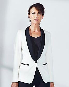 Contrast Tuxedo Jacket