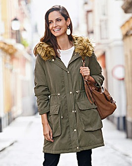Together Faux Fur Parka