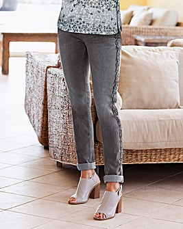 Together Lace Detail Jeans