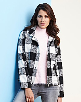 Lightweight Textured Short Coat