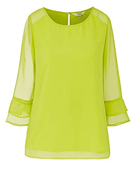 JOANNA HOPE Layer Sleeve Blouse