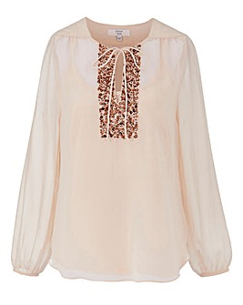 JOANNA HOPE Sequin Detail Blouse