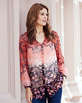 JOANNA HOPE Border Print Blouse
