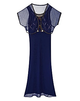 JOANNA HOPE Beaded Dress and Bolero