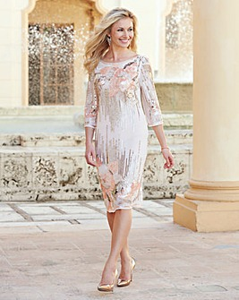 JOANNA HOPE Sequin Detail Dress