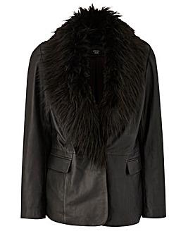 JOANNA HOPE Leather Jacket