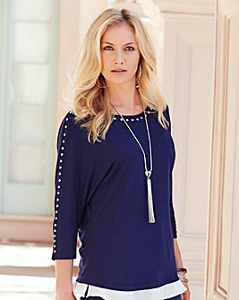 JOANNA HOPE Stud Detail Tunic