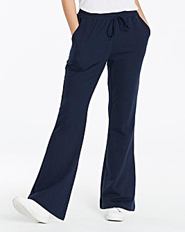 Pk2 Jersey Bootcut Trousers Long